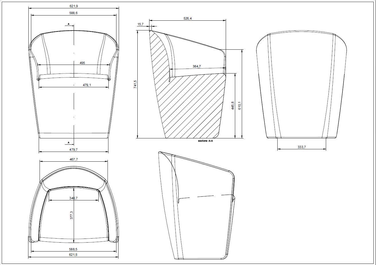 2 Dimensional Blueprint of Furniture Being Designed