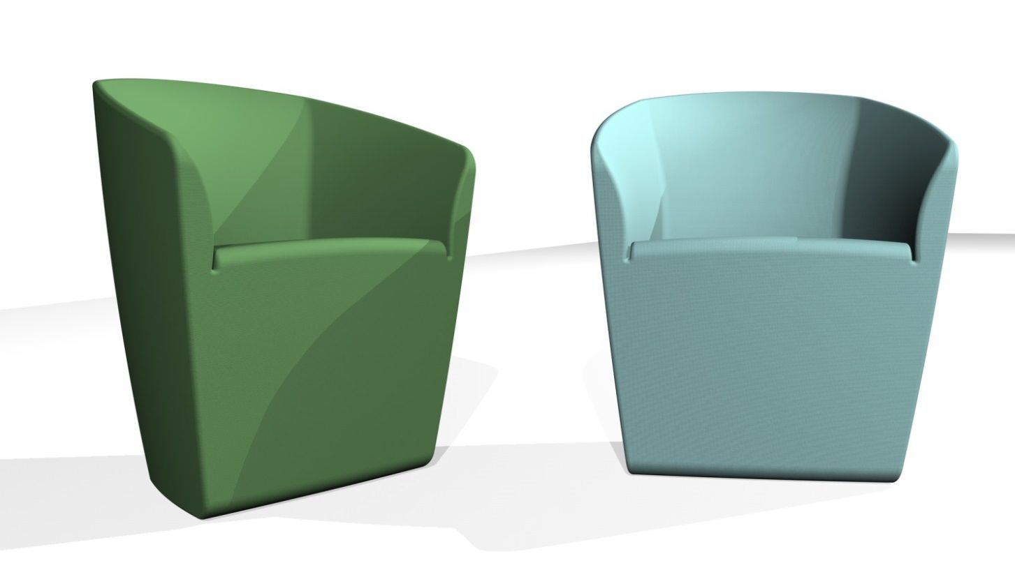 3D blueprint of chairs being designed