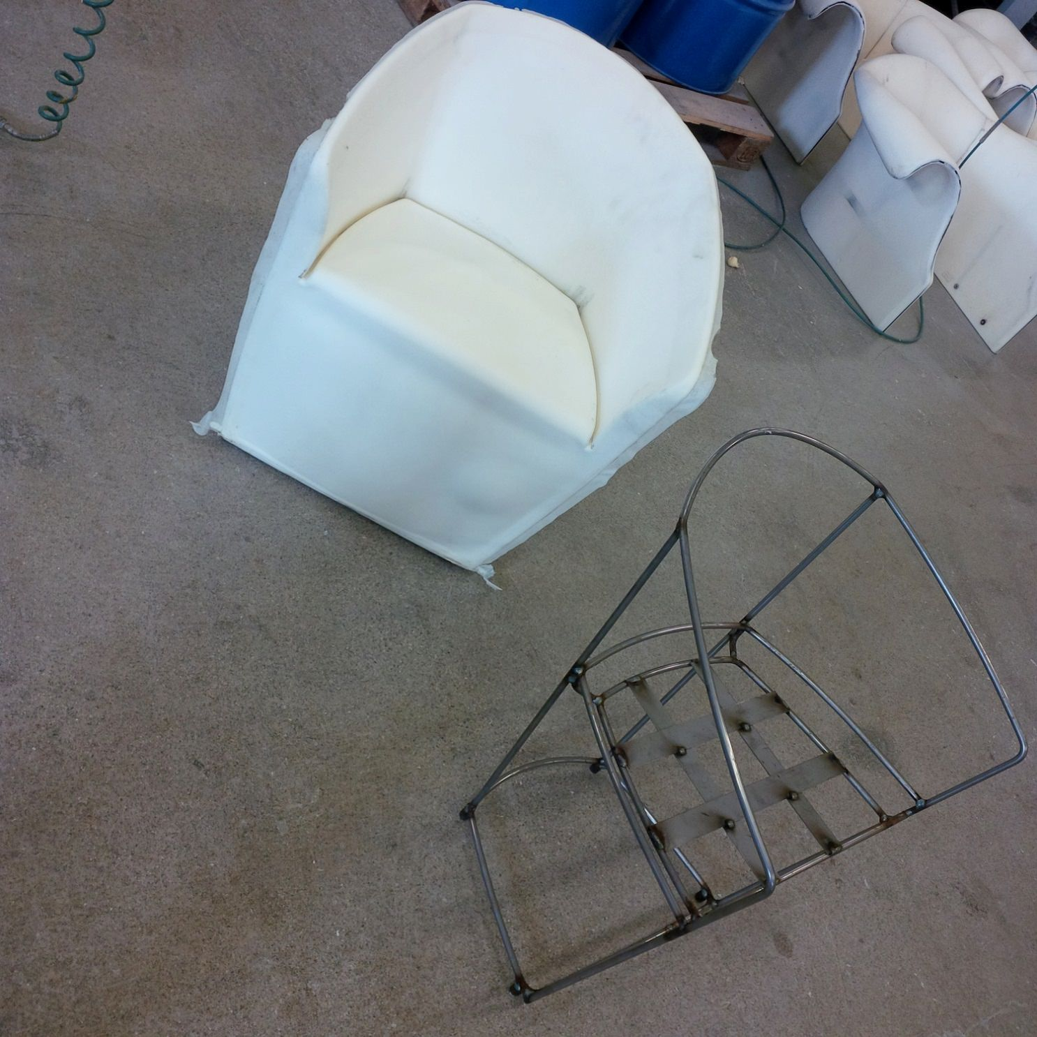 Metal frame of chair that will be created and manufactured