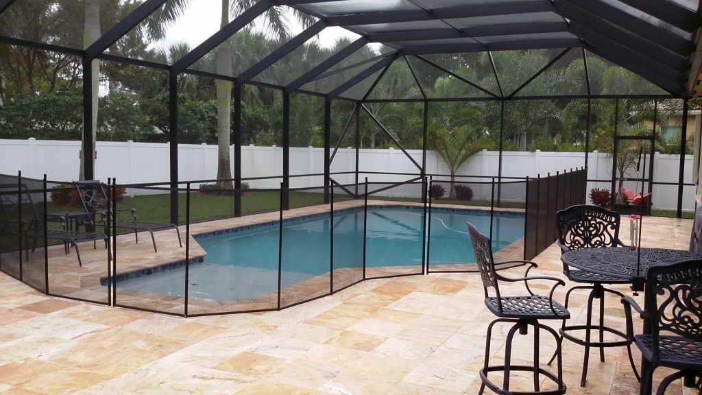 In-Ground Pool and Patio with Hipped-Style Screen Enclosure