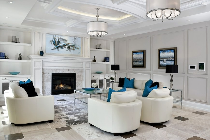 Living Rooms with White Furniture