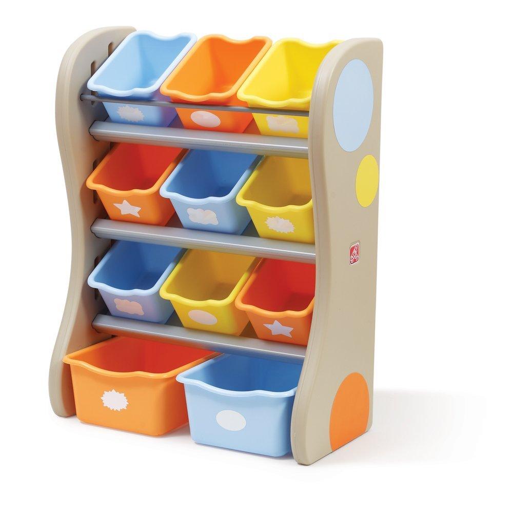 Plastic angled bin toy organizer