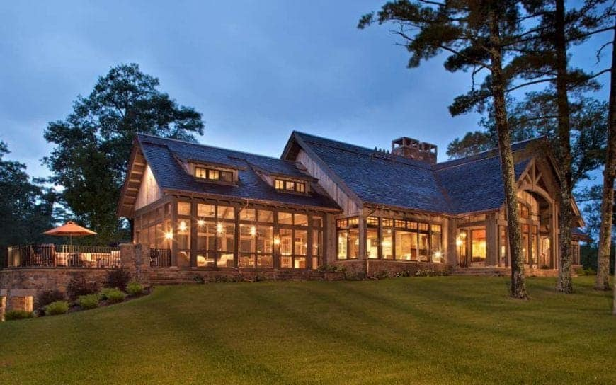 "Sumptuous Northern Wisconsin ""Cabin"" by John Kraemer and Sons"