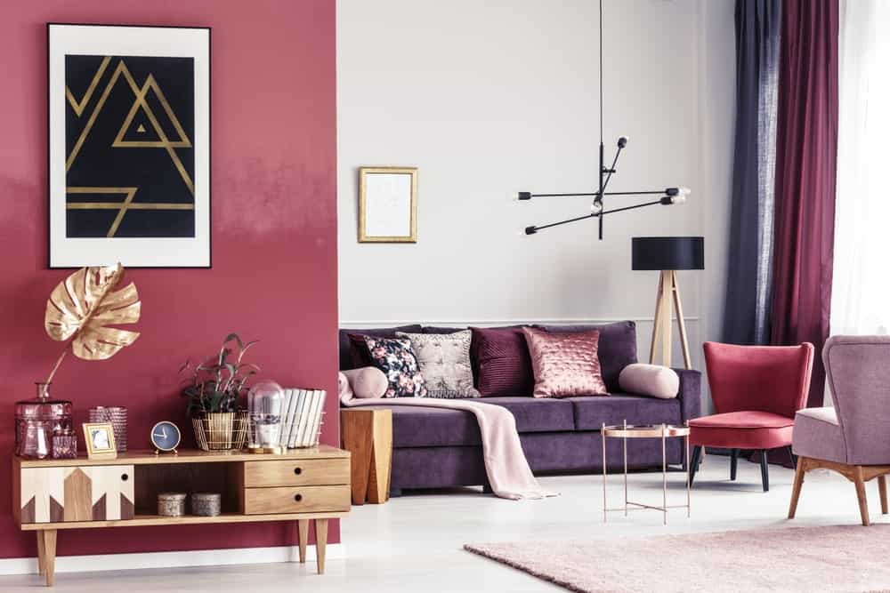 35 Purple Living Room Ideas Photos