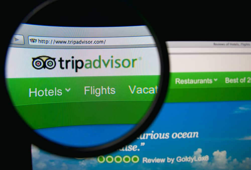 Screenshot of the TripAdvisor Website