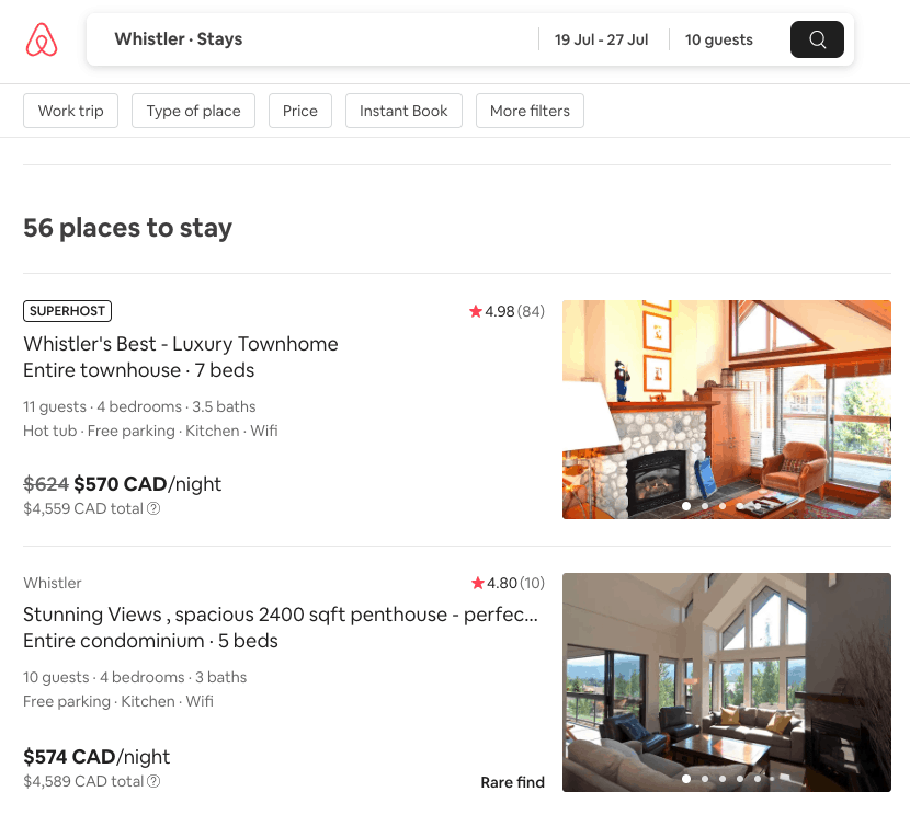Airbnb vacation rental reviews