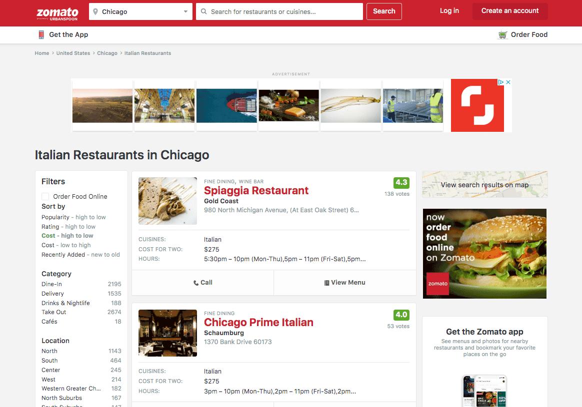 Zomato restaurant reviews