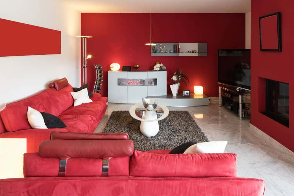 40 Red Living Room Ideas Photos