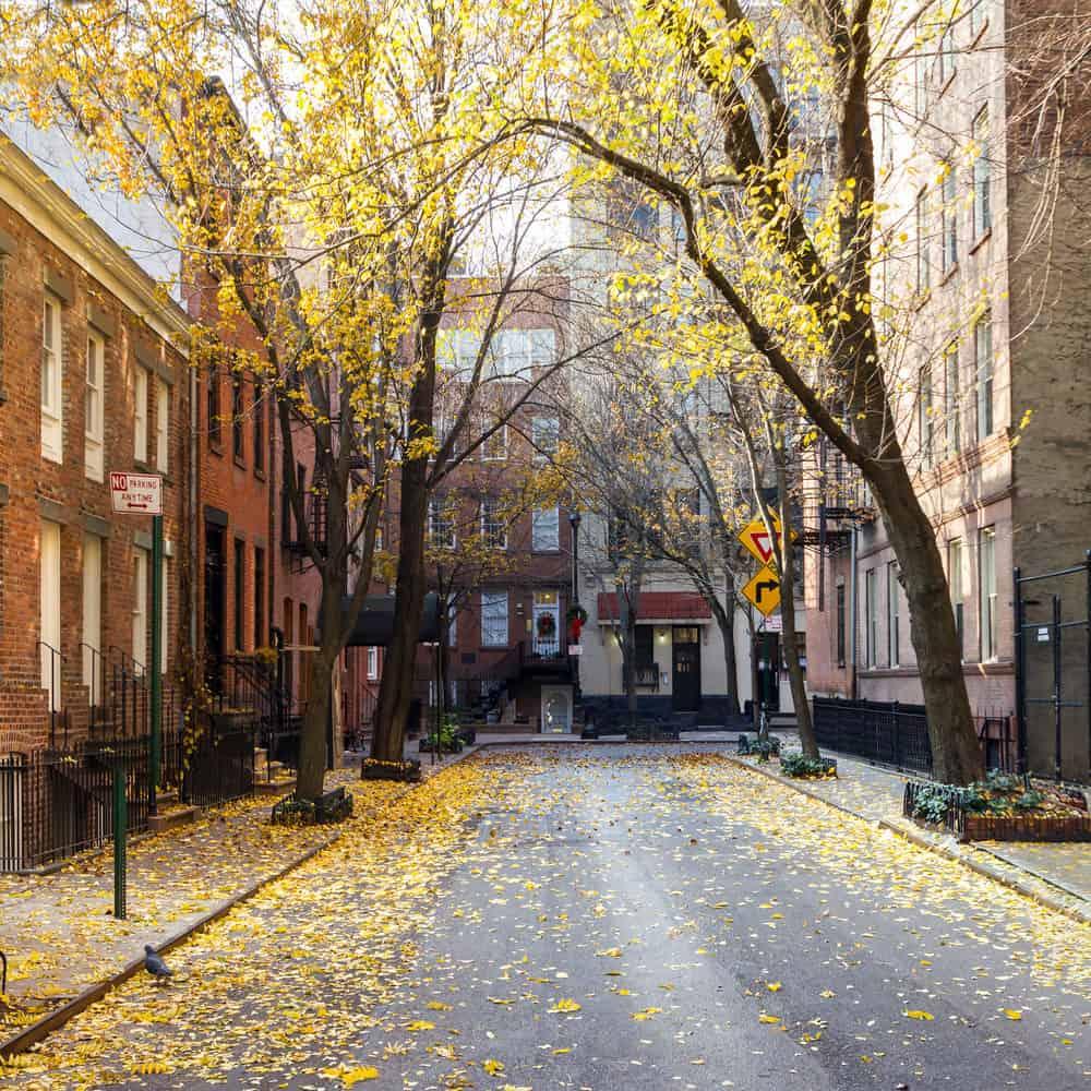 Street in Greenwich Village in New York City