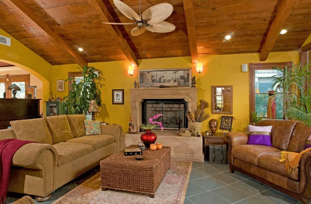 50 Yellow Living Room Ideas (Photos)