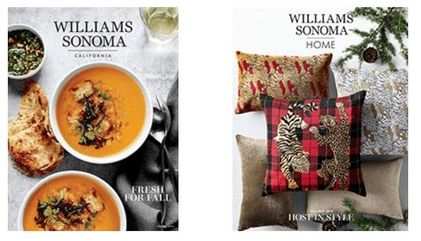 Williams Sonoma Catalog covers