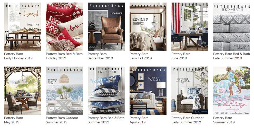 Pottery Barn Catalog covers