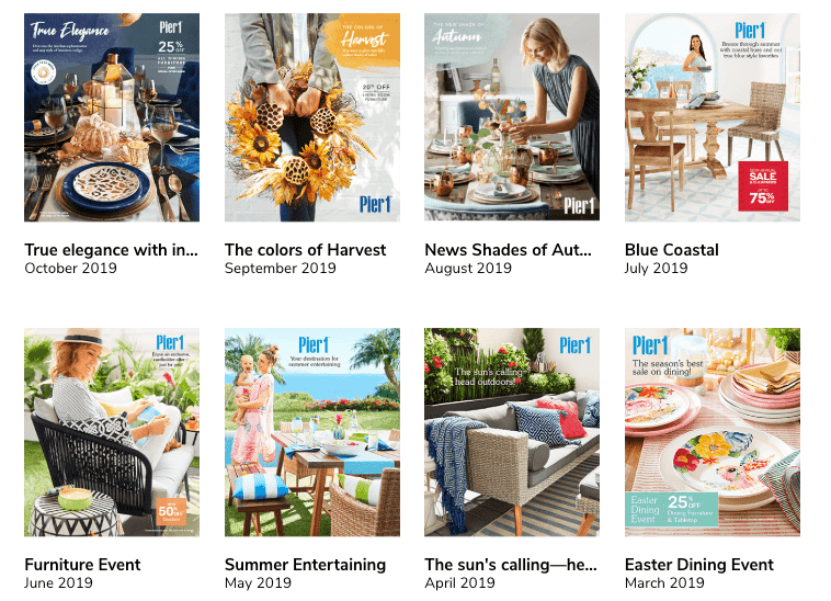 Pier 1 Imports Catalog Covers