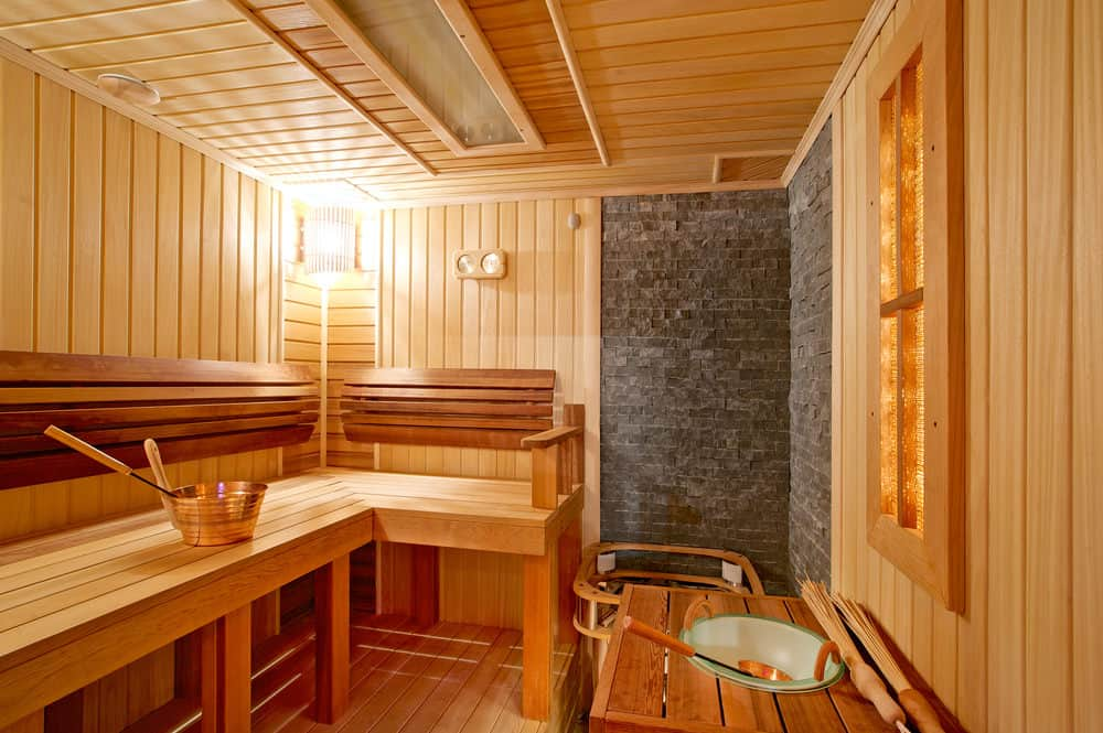 Photo of sauna interior