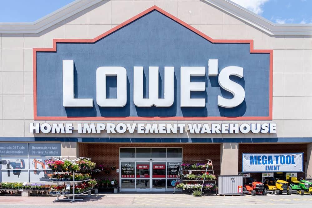 Lowe's home improvement store exterior